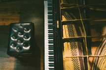 piano and empty bench
