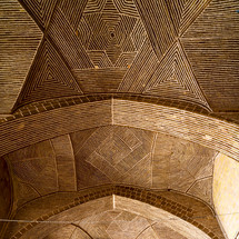 ceiling in a mosque in Iran