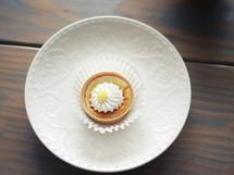 tart on a plate