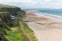 Irish shoreline