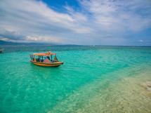 boat on turquoise water