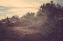 clearing land for building