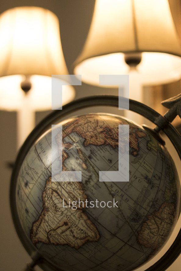 globe and lamps