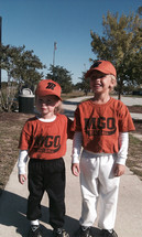 two young tee ball players