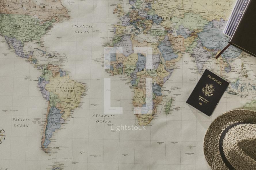 missions preparation, world map