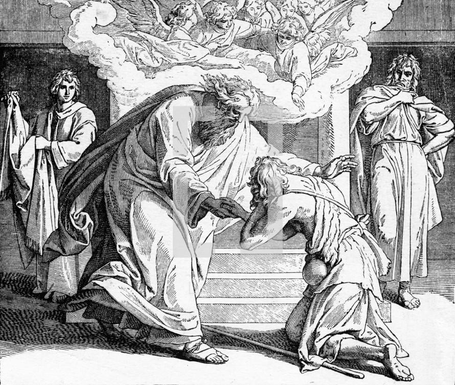 The return of the prodigal son, Luke 15: 20-32