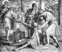 Noah curses Ham, Genesis 9: 24-25