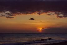 sunset over a Florida beach