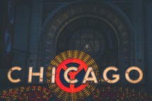 Chicago in neon lights
