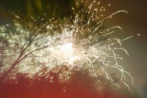 sparks from fireworks