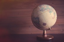 a globe on a table