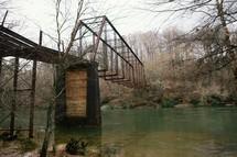 hanging train bridge
