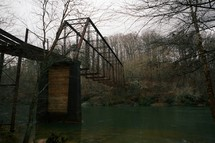 hanging train bridge