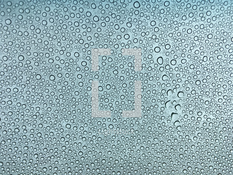 condensation on glass