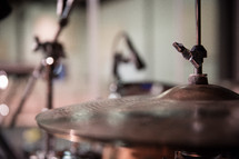 cymbals on stage