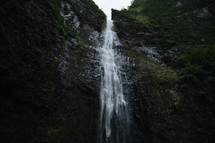 waterfall off a cliff