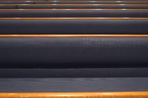 padded church pews