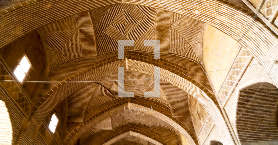 mosque ceiling in Iran