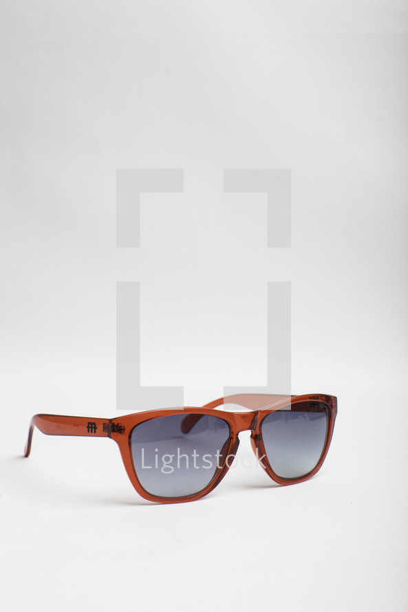 sunglasses against a white background