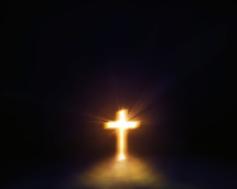 glowing cross of light