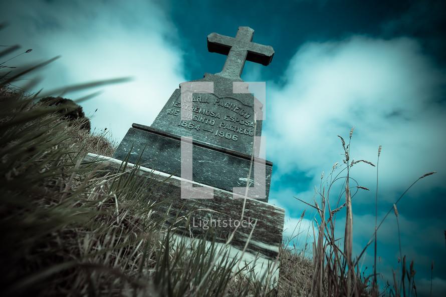 grave stone marker