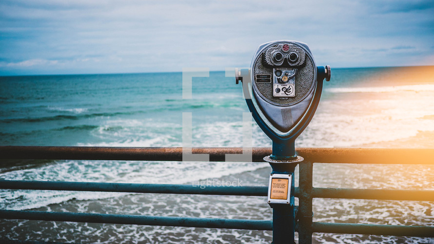 view finder scope on a pier