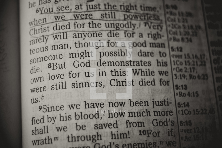 christ died for the ungodly - bible verse
