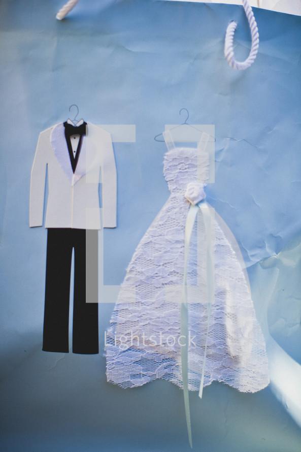 Paper wedding bag