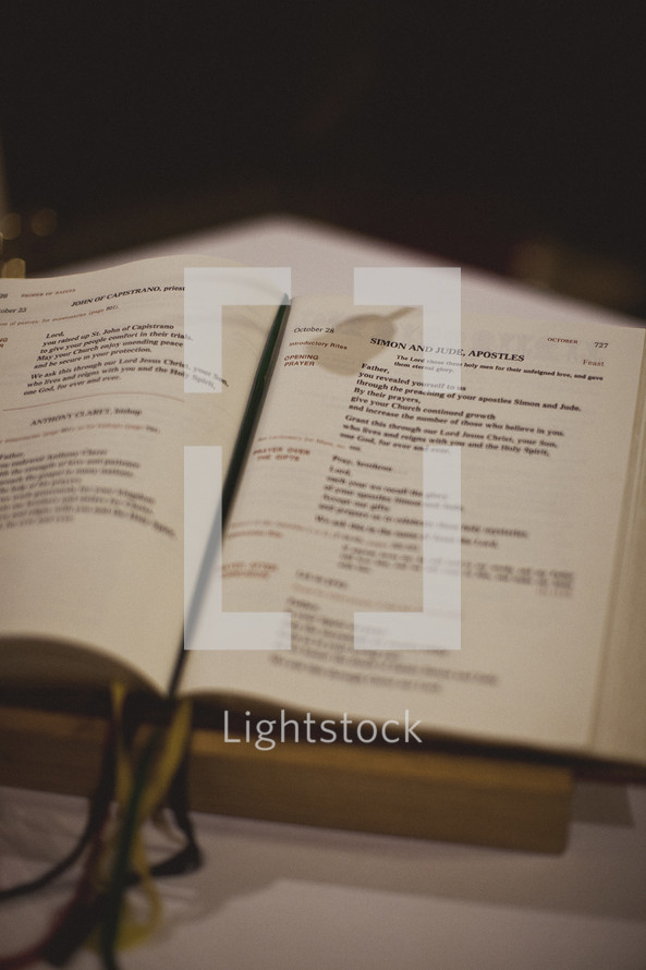 A religious book known as the Lectionary
