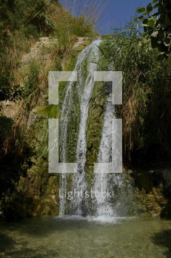 David's waterfall at En Gedi