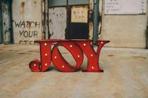 word joy sign