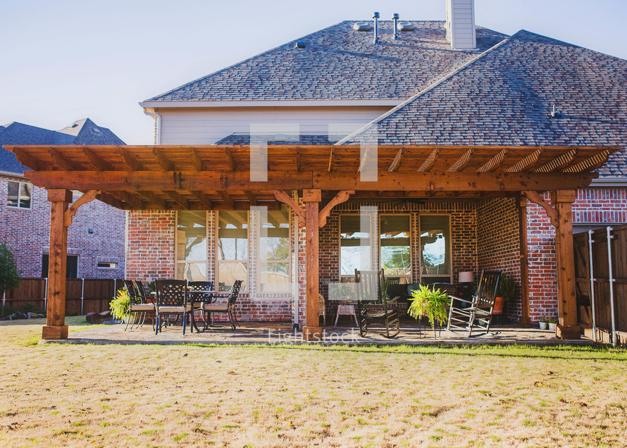 backyard pergola and patio
