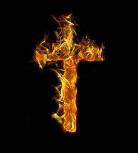 flaming cross