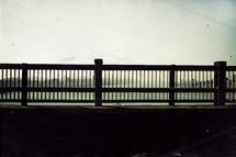 railings on the Brooklyn Bridge