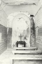 altar in a chapel