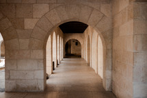 corridor in a temple in Israel