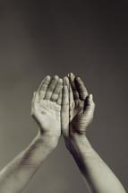 Bible scripture on a man's hands