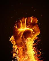 fist through fire