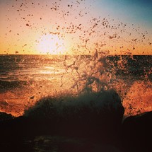 splashing sea