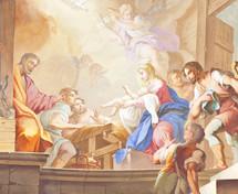 birth of Christ fresco