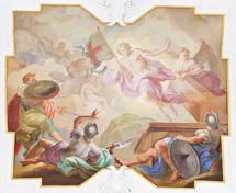 Biblical scene fresko