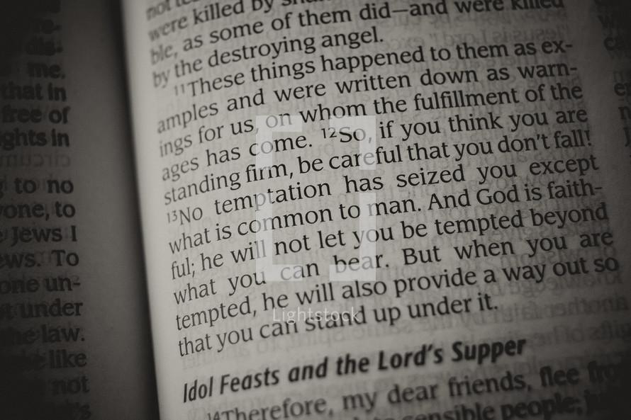Bible verse - temptation