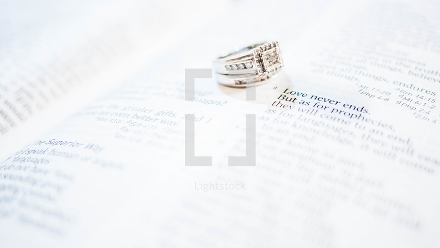 love never ends and wedding rings