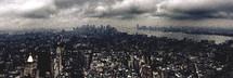 New York City under cloudy skies