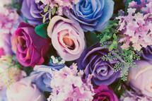 colorful purple rose bouquet