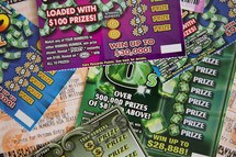 scratch off lottery tickets.