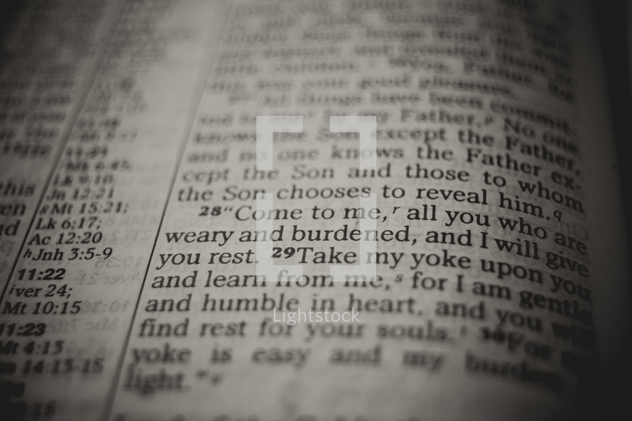 i will give you rest - Bible verse