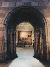 archway in an art museum