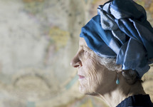 profile of an elderly woman