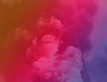pink and purple smoke